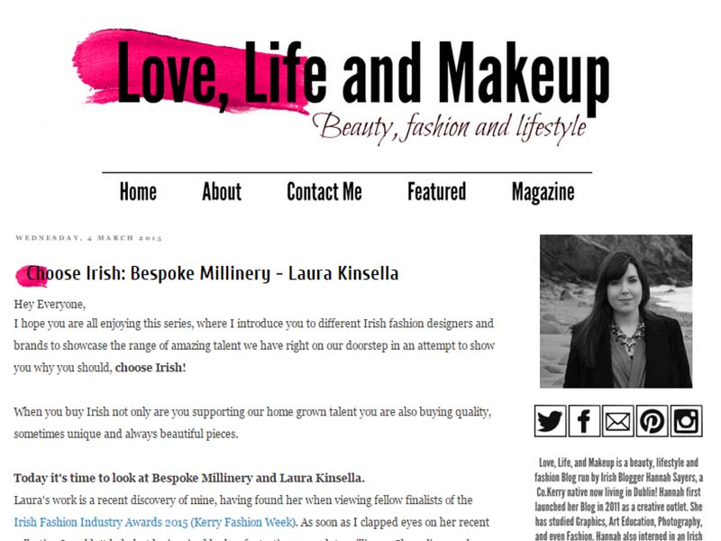 Love, Life and Makeup - Website Screenshot