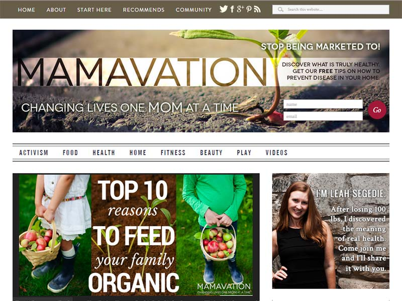 Mamavation - Website Screenshot