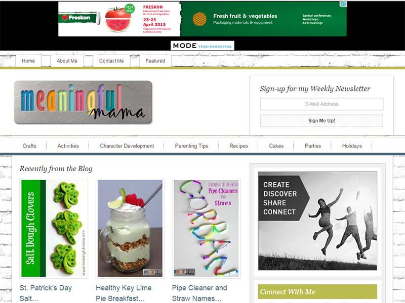 Meaningful Mama - Website Screenshot