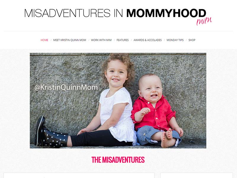 Misadventures in Mommyhood - Website Screenshot