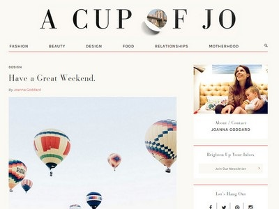 A Cup of Jo - Website Screenshot