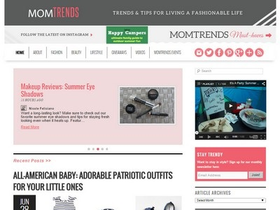 Momtrends - Website Screenshot
