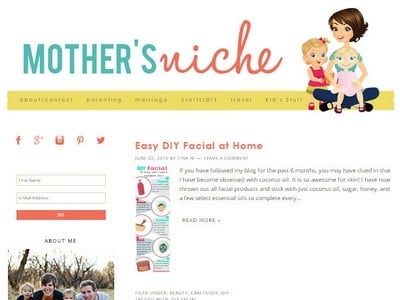 Mother's Nitche - Website Screenshot