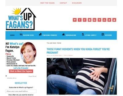 What's Up Fagans - Website Screenshot