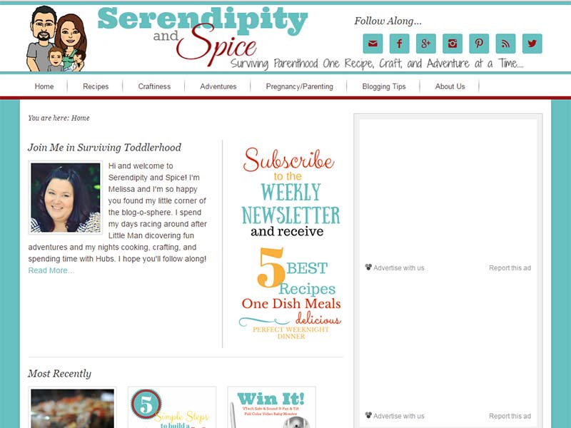 Serindipty and Space - Website Screenshot