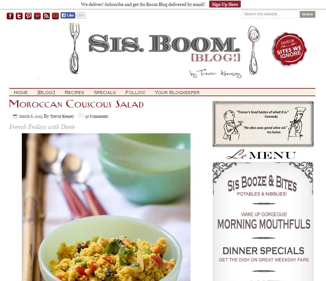 Sis. Boom. Blog - Website Screenshot
