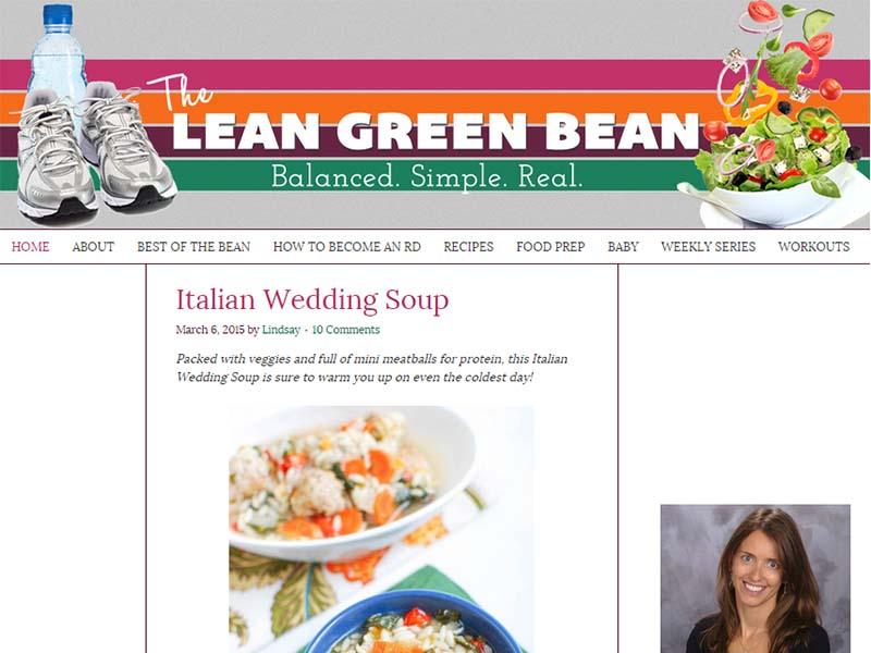 The Lean Green Bean - Website Screenshot