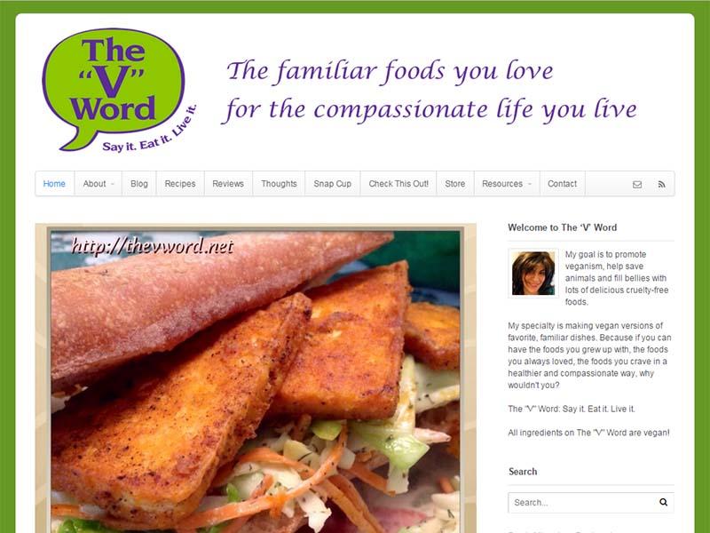 The 'V' Word Website Screenshot