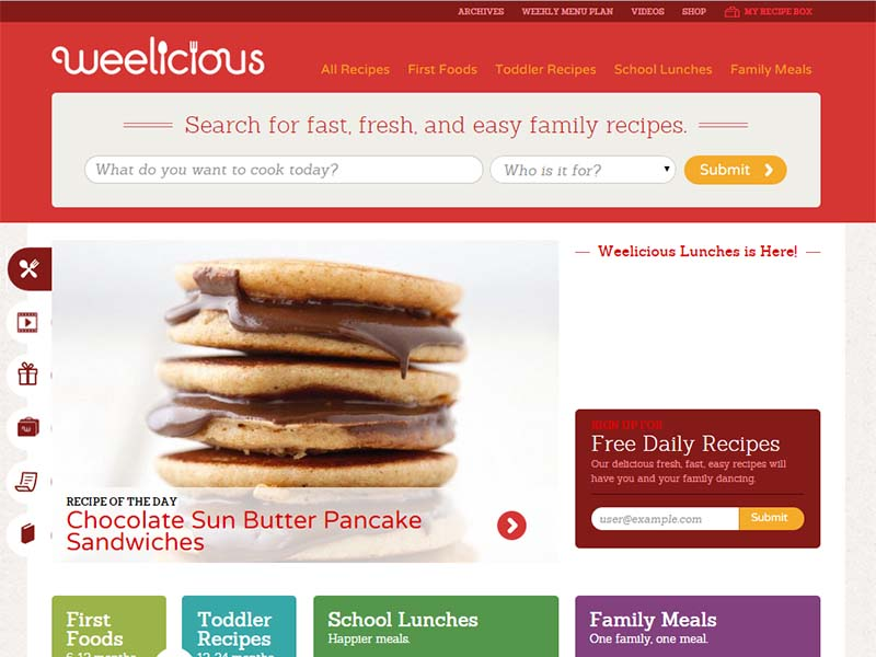 Weelicious - Website Screenshot