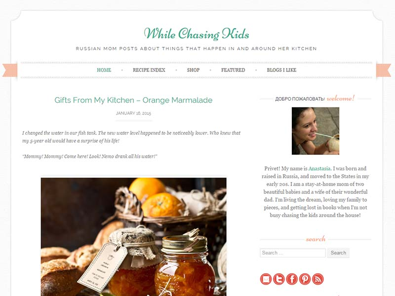 While Chasing Kids - Website Screenshot