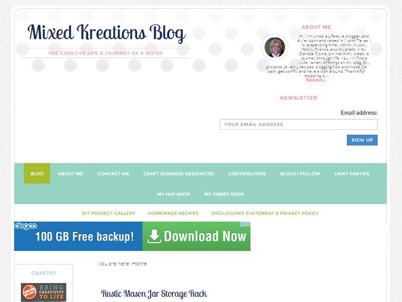 Mixed Kreations - Website Screenshot