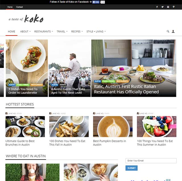 Jane Ko Interview - Website Screenshot