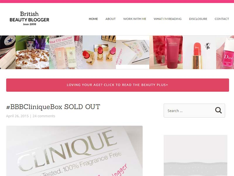 British Beauty Blogger - Website Screenshot