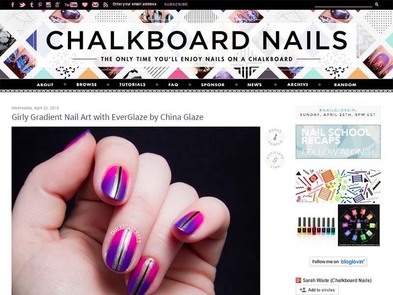 Chalkboard Nails - Website Screenshot