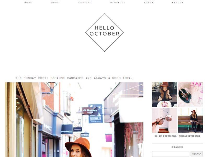 Hello October - Website Screenshot