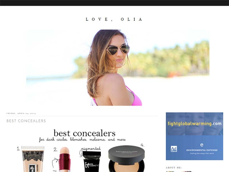 Love, Olia - Website Screenshot