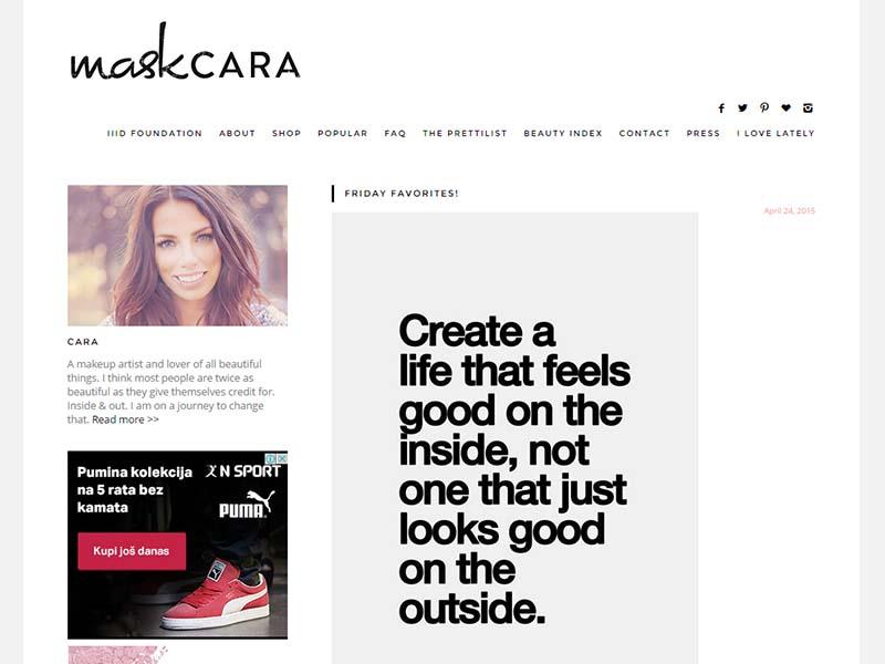 Maskcara - Website Screenshot