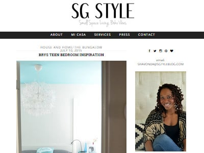 SG Style - Website Screenshot