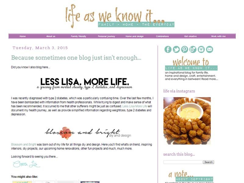 Life as we know it - Website Screenshot