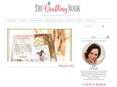 The Crafting Nook - Website Screenshot