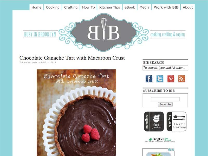 Busy In Brooklyn - Website Screenshot