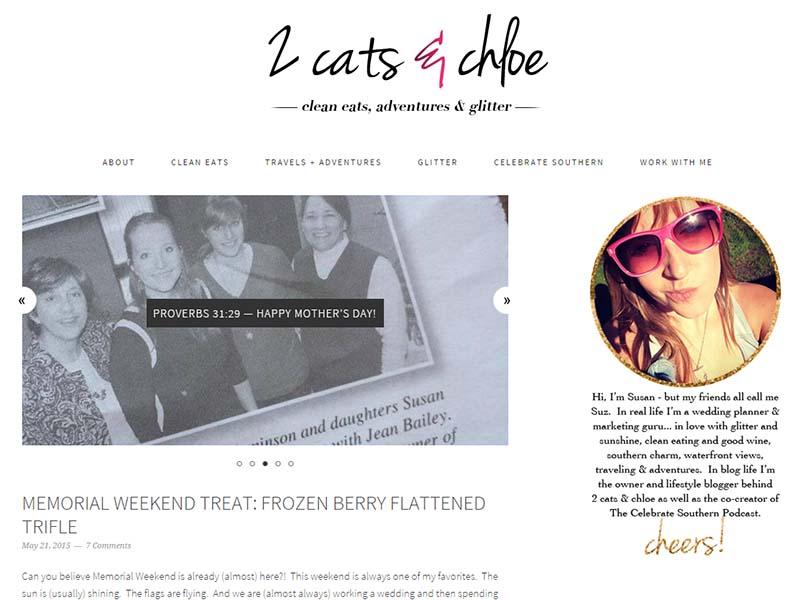 2 Cats and Chloe - Website Screenshot