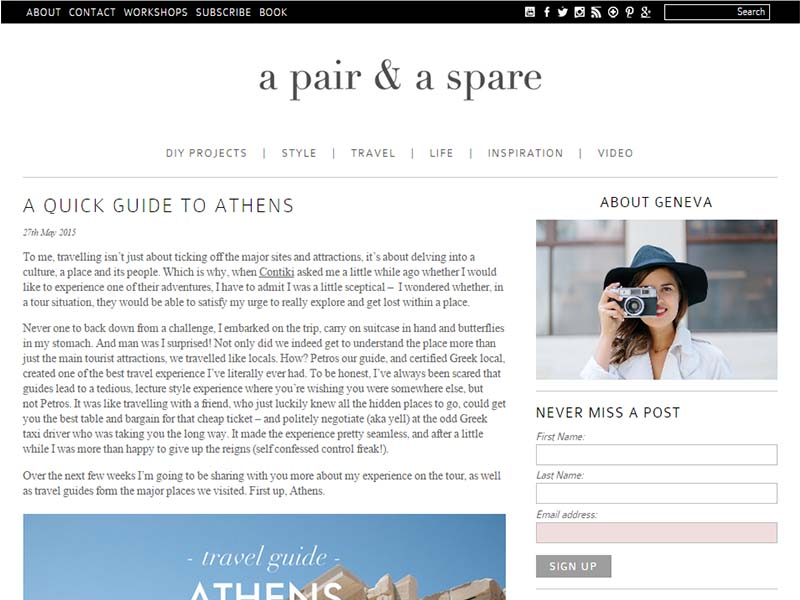 A Pair & A Spare - Website Screenshot