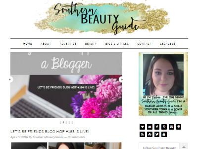 Southern Beauty Guide - Website Screenshot