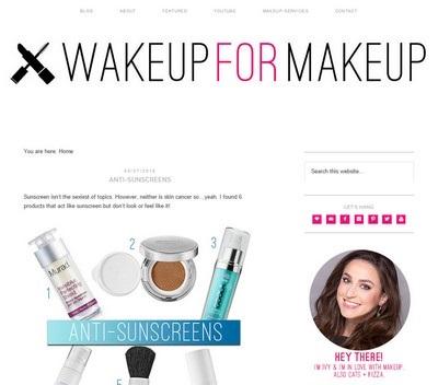 Wake up for makeup - Website Screenshot