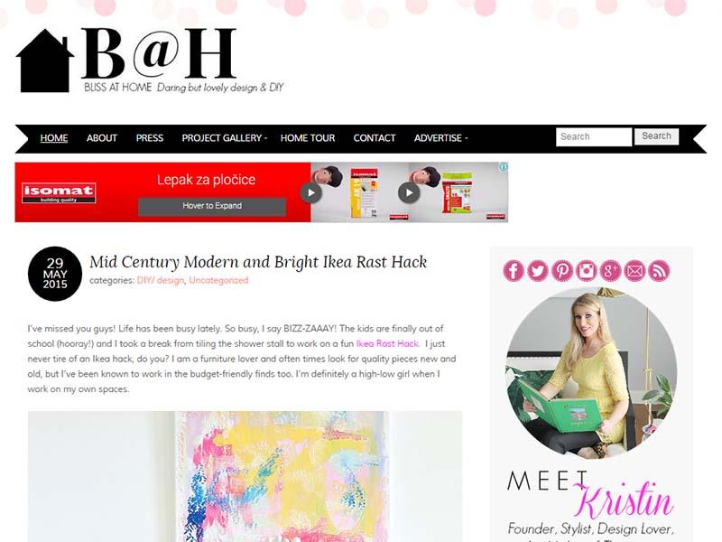 Bliss At Home - Website Screenshot