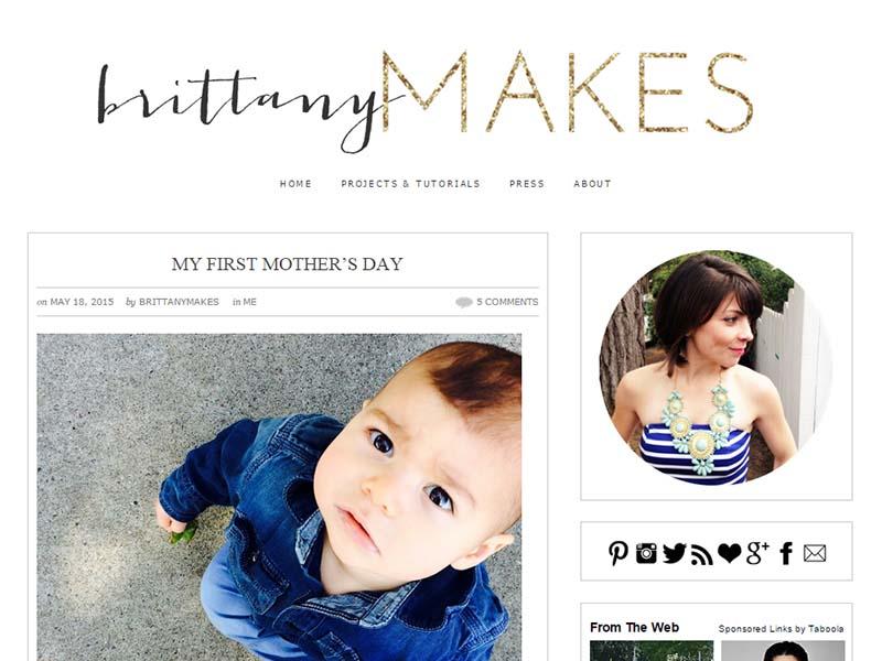 Brittany Makes - Website Screenshot