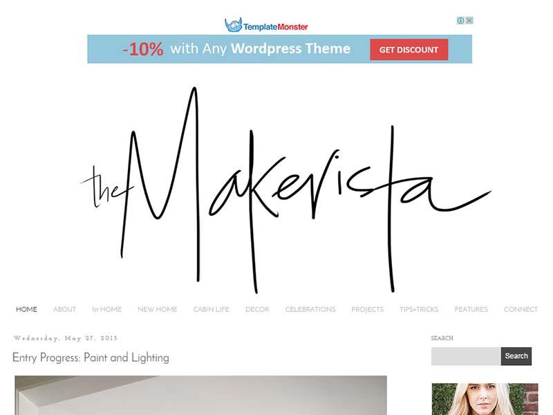 The Makerista - Website Screenshot