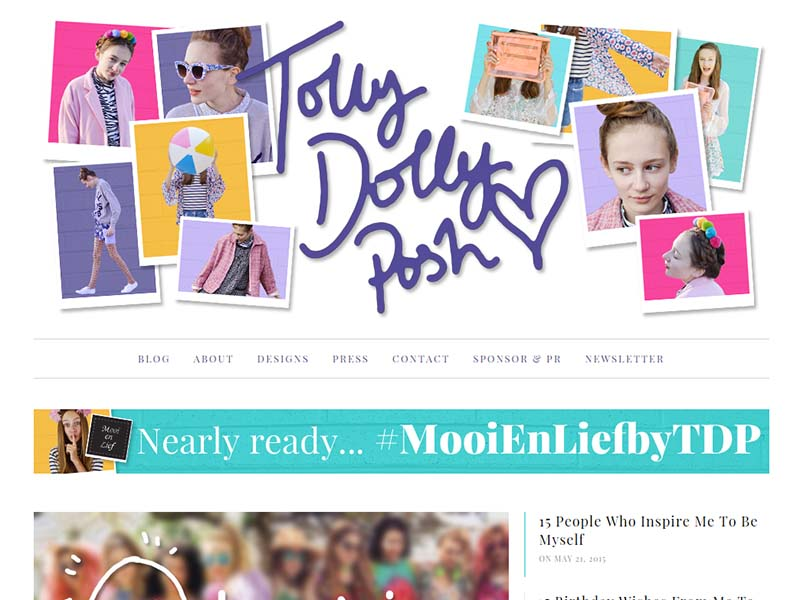 Tolly Dolly Posh - Website Screenshot