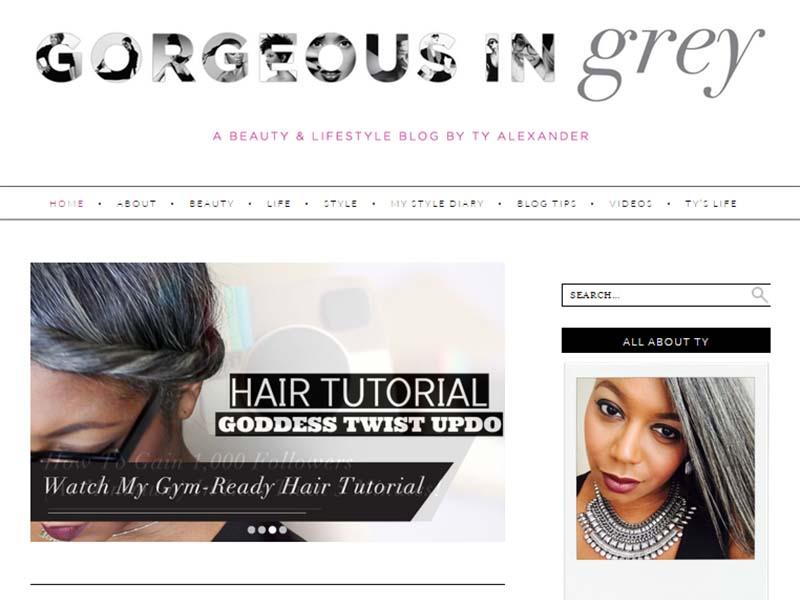 Gorgeous In Grey - Website Screenshot