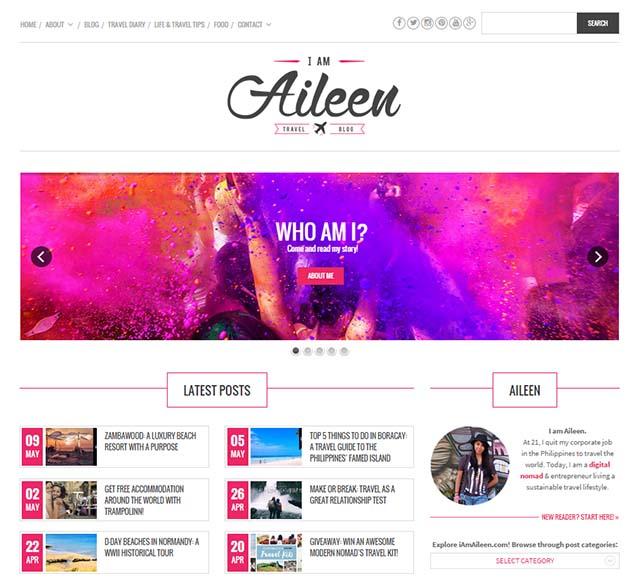 Aileen Adalid Interview - Website Screenshot
