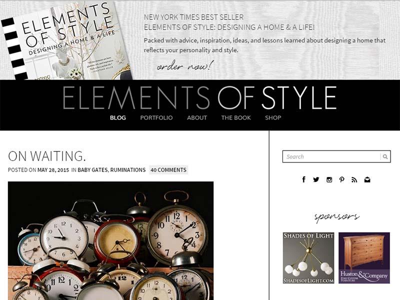 Elements of Style - Website Screenshot