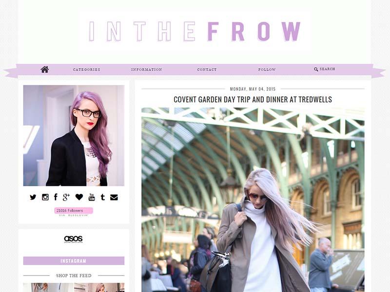 Delicieux In The Frow   Website Screenshot