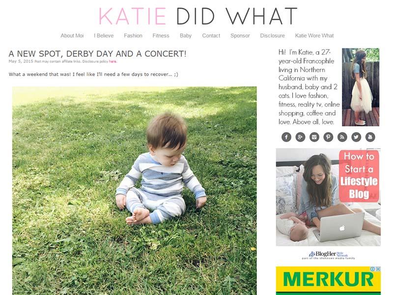 Katie Did What - Website Screenshot