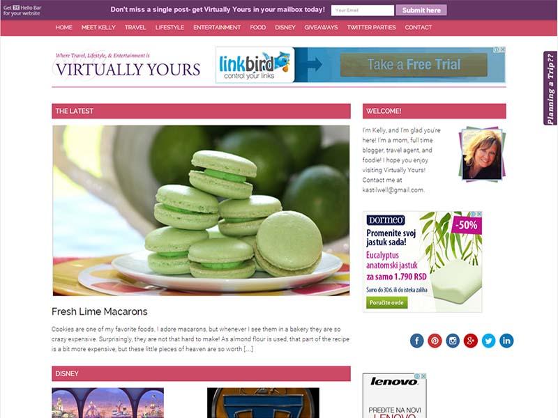 Virtually Yours - Website Screenshot