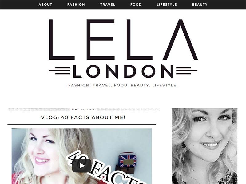 Lela London - Website Screenshot