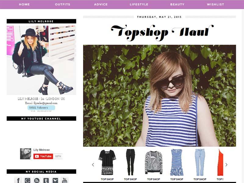 Lilly Melrose - Website Screenshot