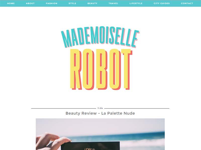 Madamoiselle Robot - Website Screenshot
