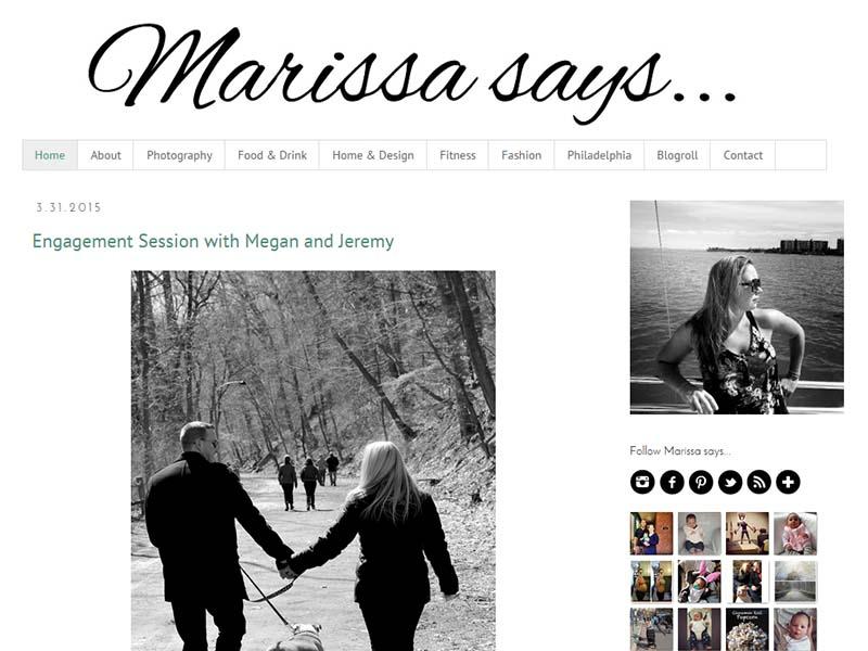 Marissa Says - Website Screenshot