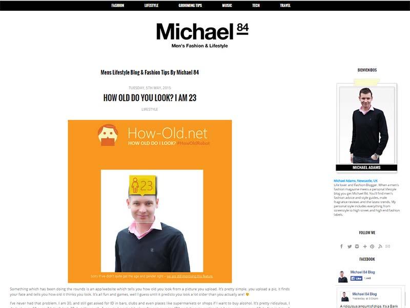 Michael 84 - Website Screenshot