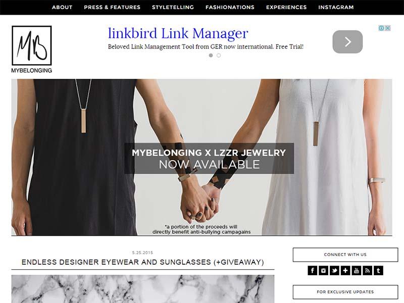 My Belonging - Website Screenshot
