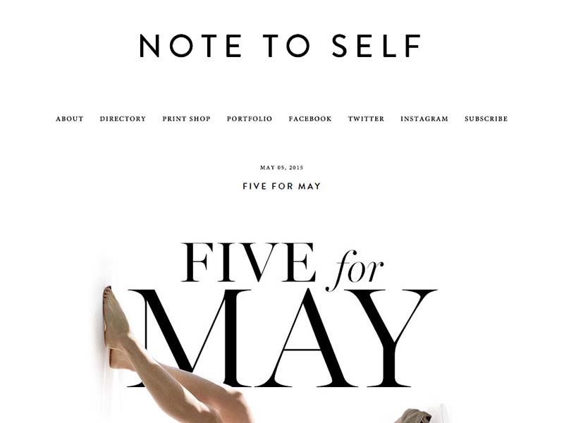 Note to Self - Website Screenshot
