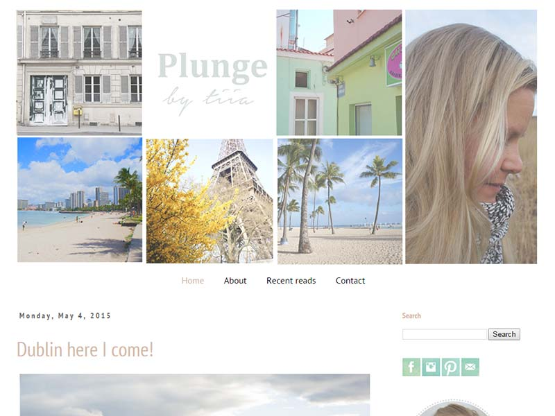 Plunge by Tiia - Website Screenshot