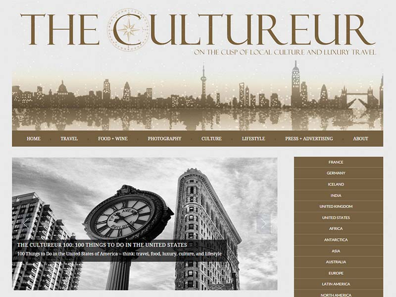 The Cultureur - Website Screenshot