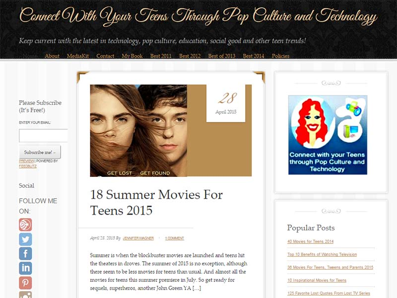 Connect With Your Teens - Website Screenshot