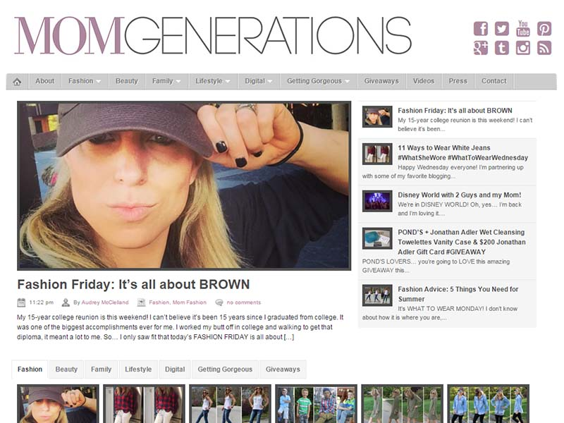 Mom Generations - Website Screenshot